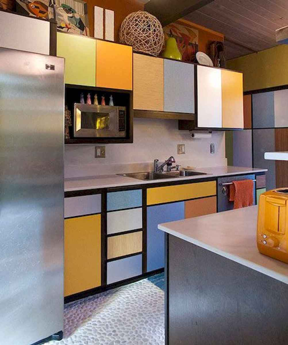 80+ Fantastic Colorful Kitchen Decor Ideas And Remodel for Summer Project (28)