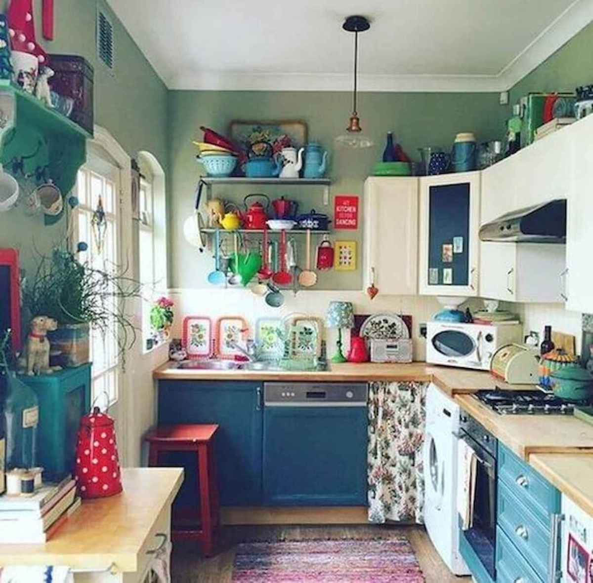 80+ Fantastic Colorful Kitchen Decor Ideas And Remodel for Summer Project (41)