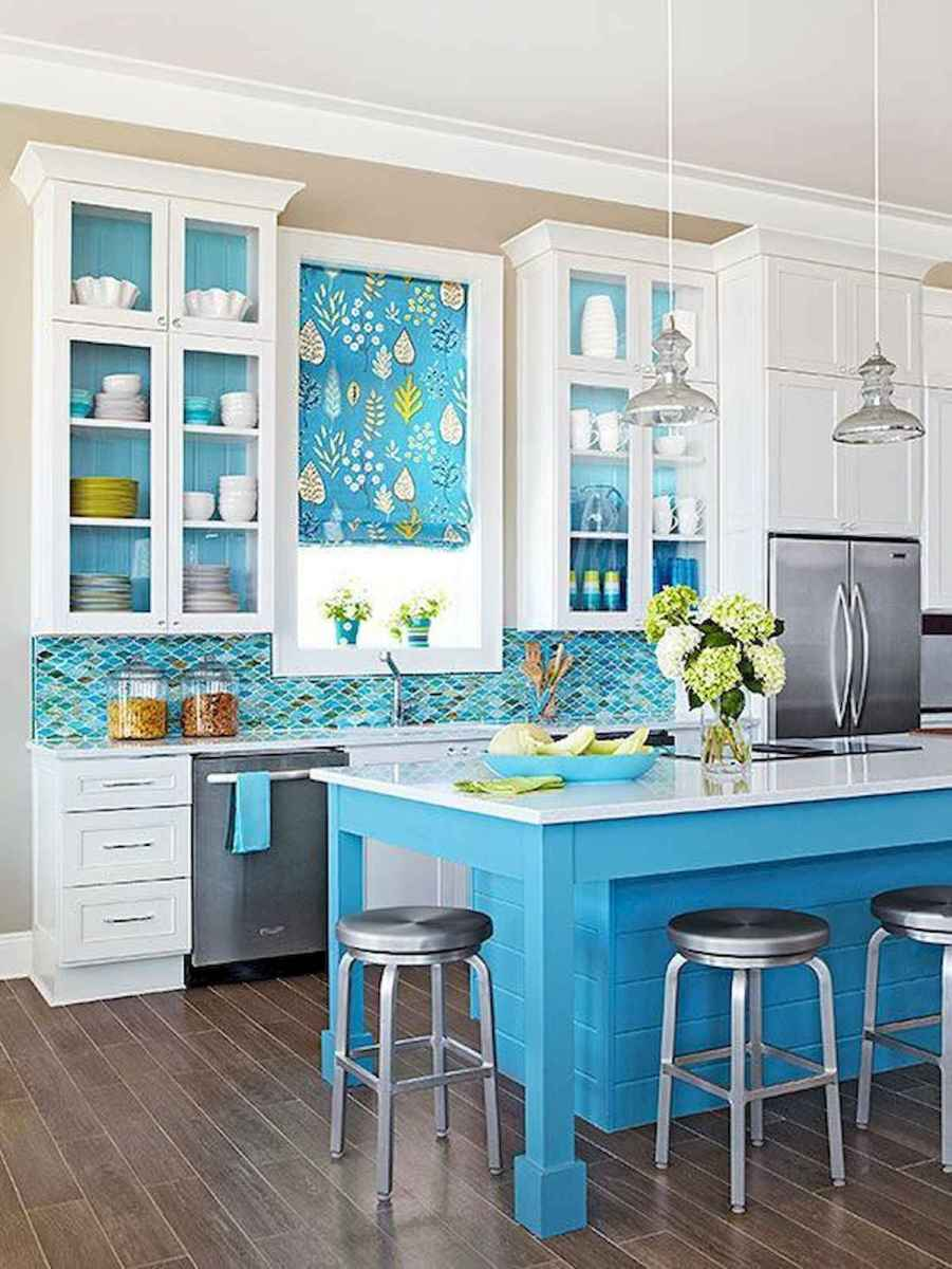 80+ Fantastic Colorful Kitchen Decor Ideas And Remodel for Summer Project (45)