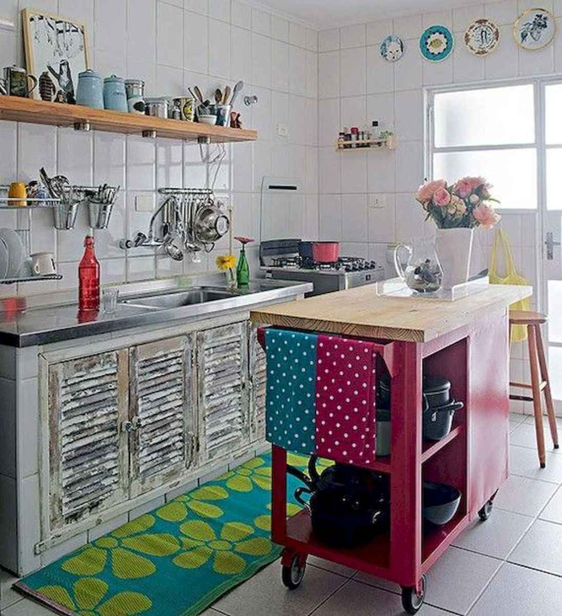 80+ Fantastic Colorful Kitchen Decor Ideas And Remodel for Summer Project (54)