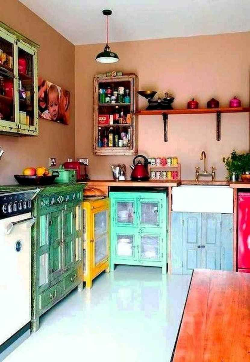 80+ Fantastic Colorful Kitchen Decor Ideas And Remodel for Summer Project (70)