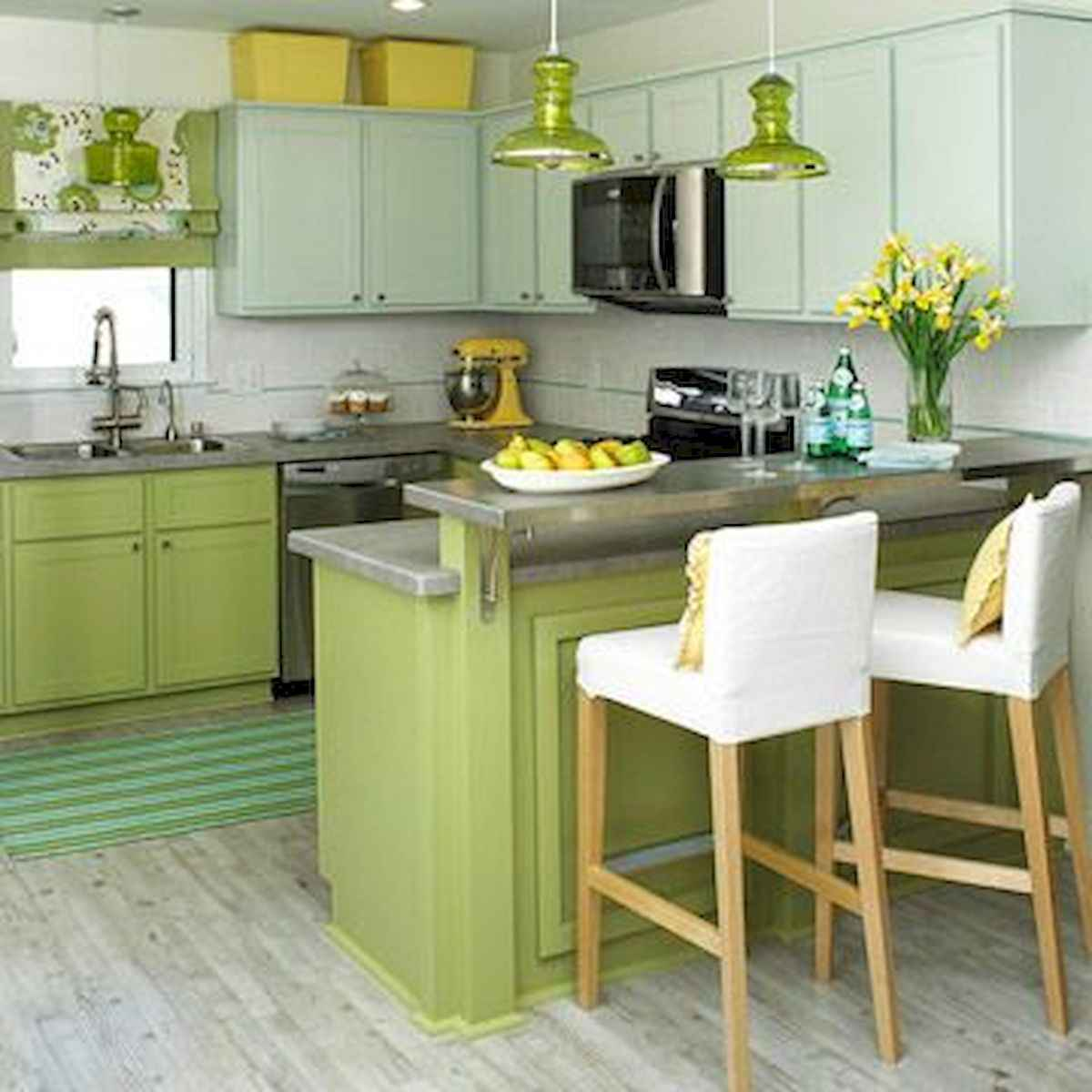 80+ Fantastic Colorful Kitchen Decor Ideas And Remodel for Summer Project (84)