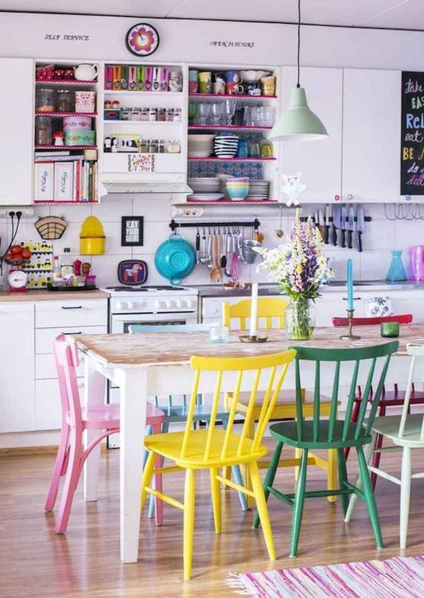 80+ Fantastic Colorful Kitchen Decor Ideas And Remodel for Summer Project (87)
