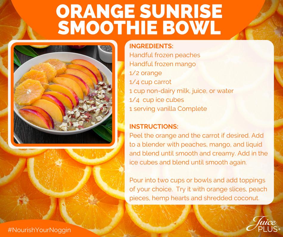 Orange Sunrise Smoothie Bowl