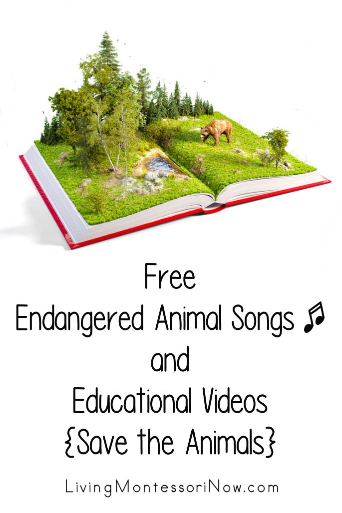 Free Endangered Animal Songs and Educational Videos {Save the Animals}