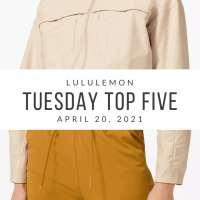 lululemon Tuesday Top 5 (4/20/21)