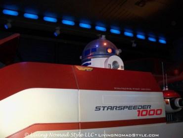 R2D2 inside Star Tours.