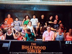 This was a snapshot that the automatic cameras took while we were on the Tower of Terror ride. Look to the back right and you will see Ethan holding on, Noah laughing at Mama Nomad, Mama Nomad letting EVERYONE know she is on the ride, Daddy Nomad laughing as well and Trevor nervously laughing not knowing whether things are real or not. It was a blast!