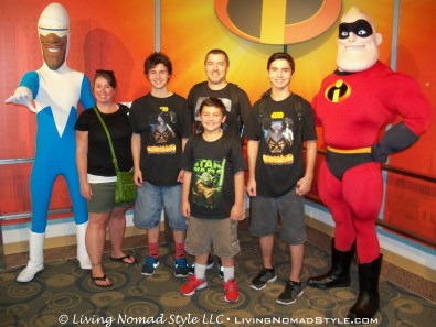 The Nomads with Frozone and Mr. Incredible.