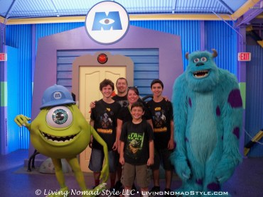 The Nomads posing with Mike and Sulley. These two were funny characters.