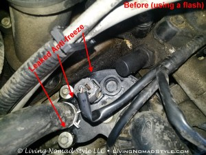 Thermostat Housing Assembly - Before