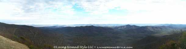 View After Big Ridge Overlook - Panorama