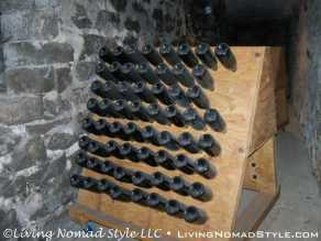Champagne Bottle Display - Stone Tunnel