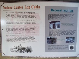 Log Cabin Sign