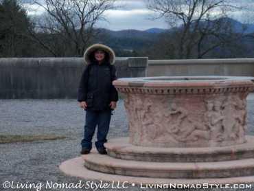 Trevor And Fountain On South Terrace