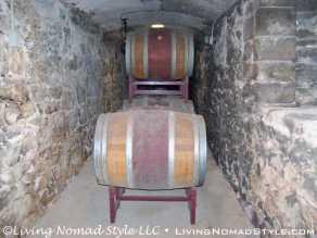 Wine Barrel Display - Stone Tunnel