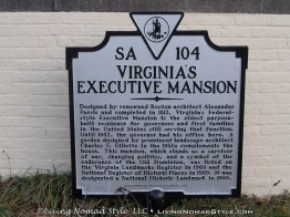 Virginia Governors Mansion Sign
