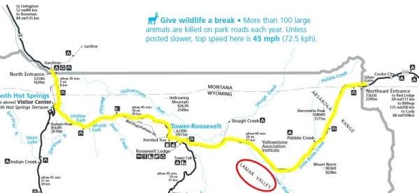 North Yellowstone Route