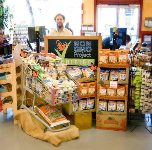Chico Natural Foods Non-GMO Month Display