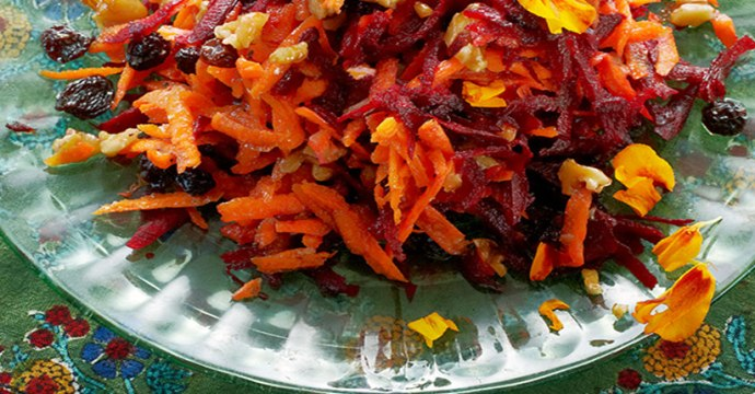 Beat Carrot Salad, Living Non-GMO