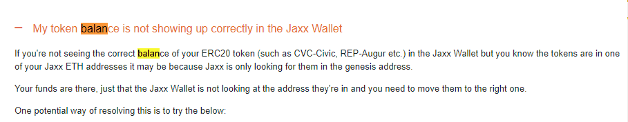 January 2018 Income Report jaxx_wallet balance potential solution