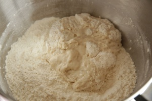 Dampfl in flour mixture