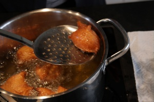 Frying Gebackene Mäuse