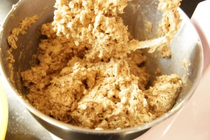Oatmeal cookies - add the oats