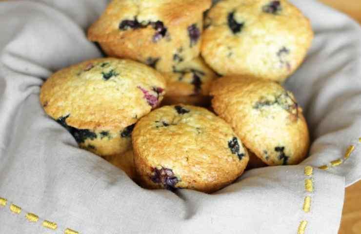 Blueberry-Sour Cream Muffins
