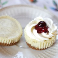 Cheesecake Cupcakes with Berries & Cream