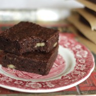 Decadent One Bowl Fudgy Brownies