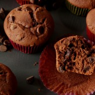 The Best Double Chocolate Muffins