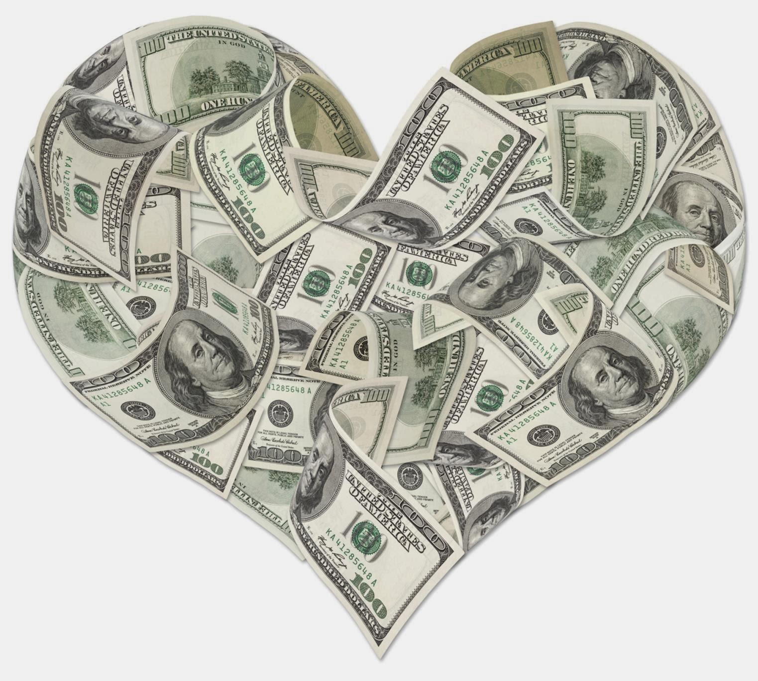how to make a heart with money