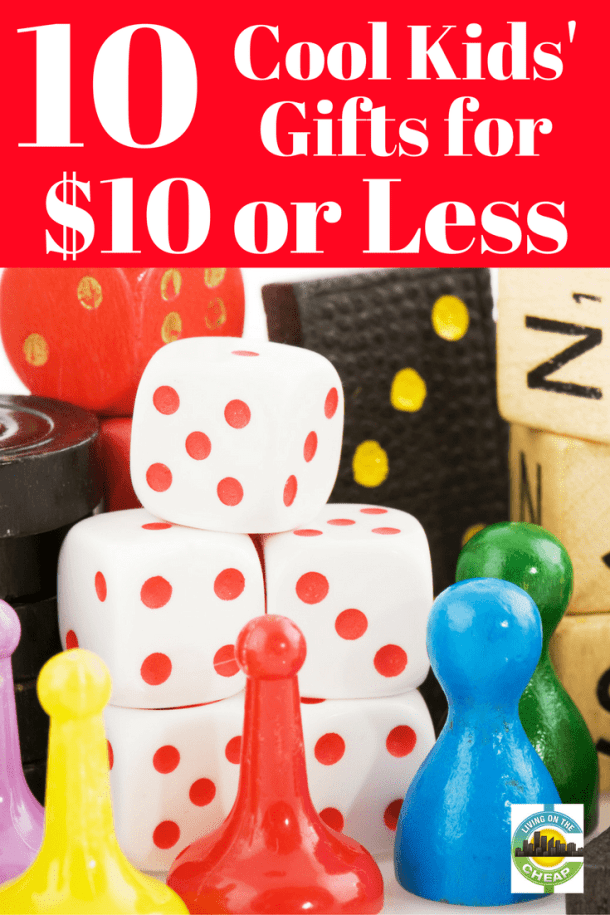 Here are 10 cool gifts you can buy kids for $10 or less. Remember, we did our shopping early in the month and most of these items weren't on sale – so they could be even cheaper when you buy them.