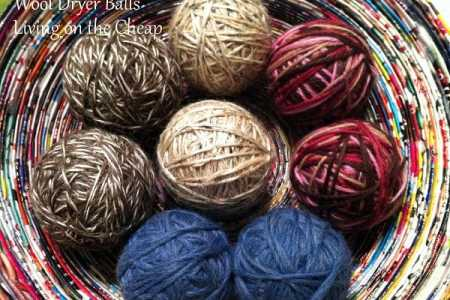 Make dryer balls, a cheapskate's fabric softener