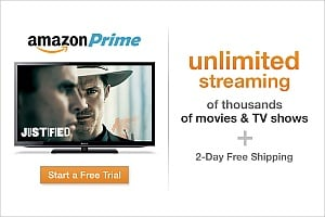 Free 30-day trial of Amazon Prime Video Streaming