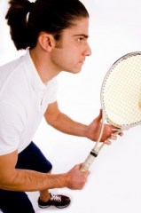 Grab your tennis shoes and racket for this easy tennis pro costume. Photo by ImageryMajestic, freedigitalphotos.net.