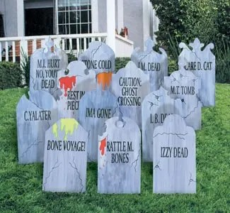 You Can Cover The Tombstones With Heavy Duty Packing Tape To Help Seal Out Some Moisture And Add Sturdiness