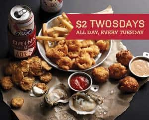 $2 TWOSDAYs at Joe's Crab Shack