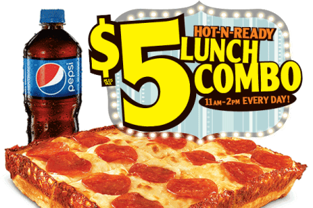 Little Caesars: $5 Hot-N-Ready lunch combo