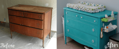 dresser into changing table