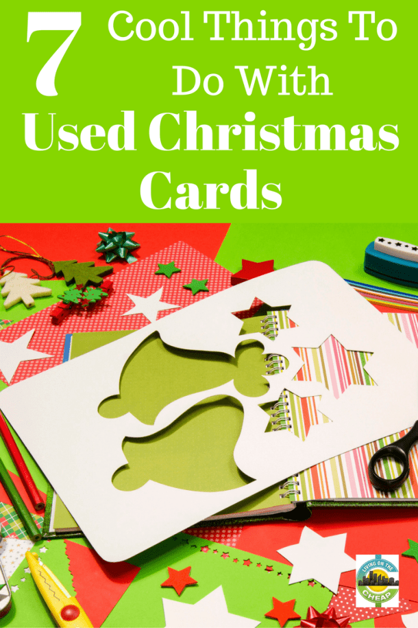 recycle old christmas cards crafts