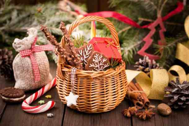 Christmas treats and decorations