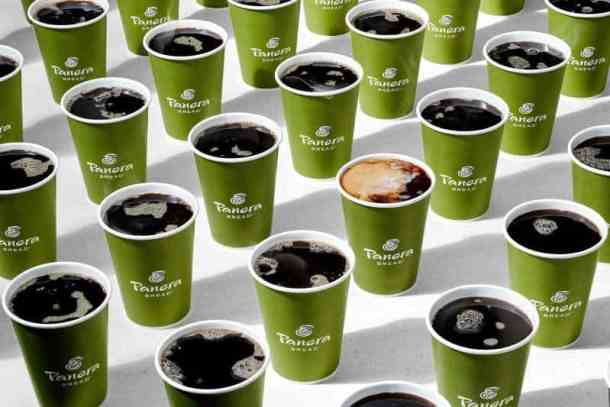 Panera monthly coffee subscription, coffee cups