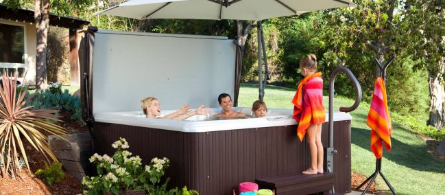 backyard hot tubs