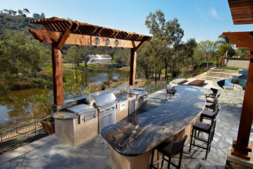 How To Plan A Backyard Bar and Grill : Living Out The Back