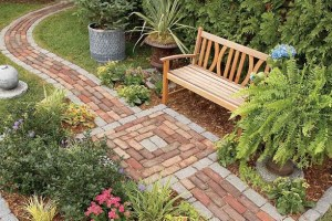 How to Lay a Brick Paver Path Over A Concrete Sidewalk