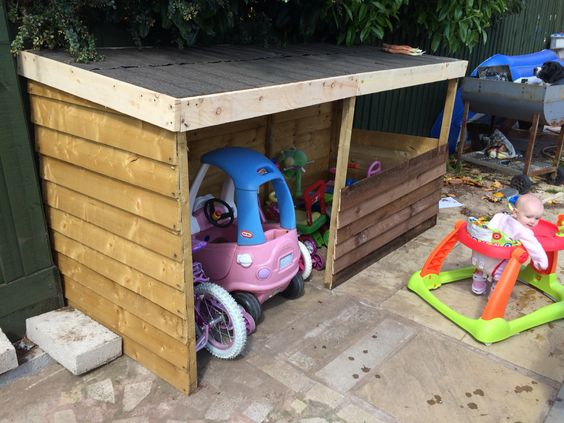 outdoor toy storage ideas