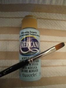acrylic paint & paintbrush