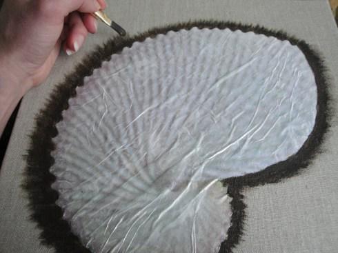 diy paper nautilus canvas art